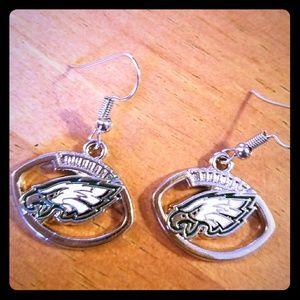Philadelphia Eagles Football Earrings